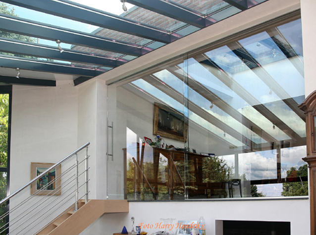 Dakbeglazing geeft een unieke look buys glas - Glazen dak dak glijdende ...